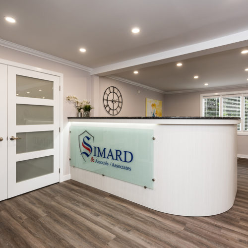 Lobby of Simard & Associates Law firm in Rockland Also Serving Ottawa