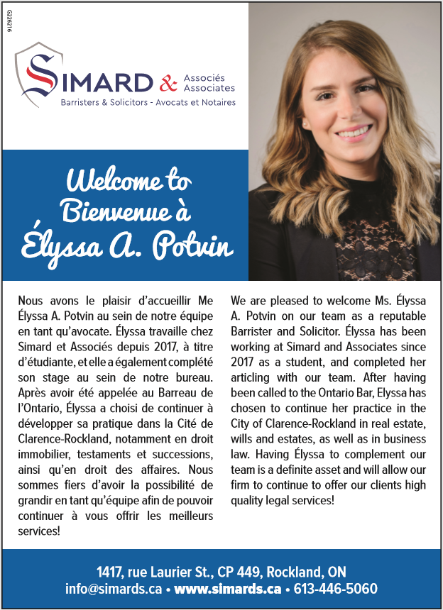 Bienvenue au journal Élyssa A. Potvin | Simard & Associates