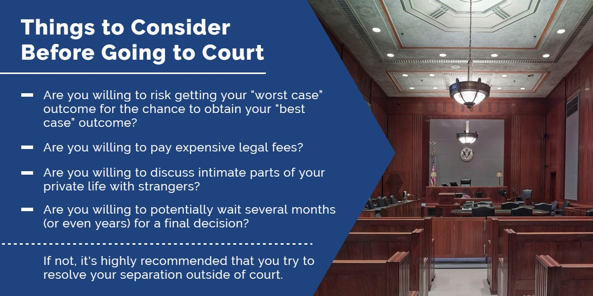 Things to consider before going to court | Simard & Associates